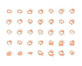 Climacons free weather icons