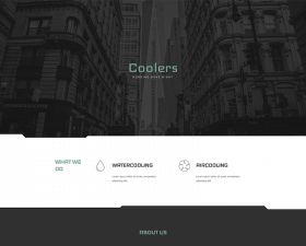 Coolers free tech HTML template