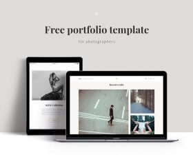 Free Portfolio Template for photographers