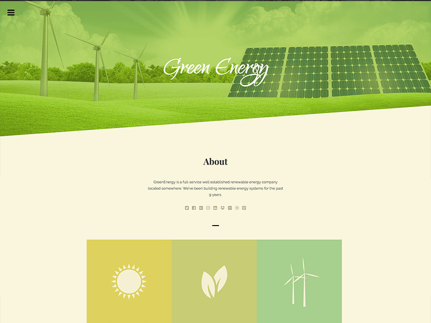 Green Energy free HTML template