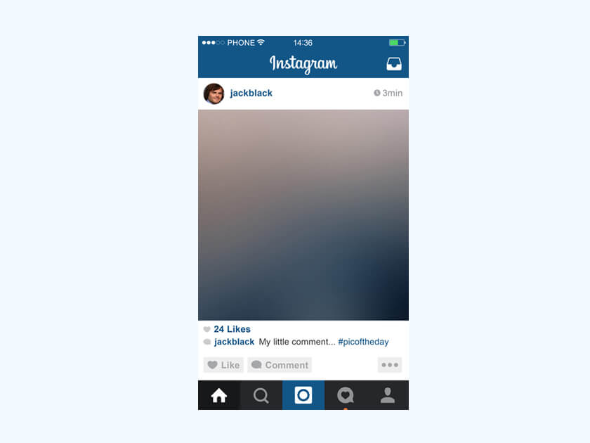 Instagram Mobile Mockup