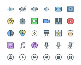 Multimedia Pioneer free icons