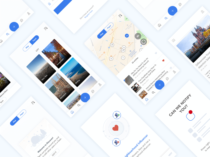 Real Estate App UI Kit - Fluxes Freebies