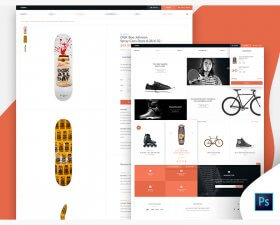 Shoplifter eCommerce free PSD template