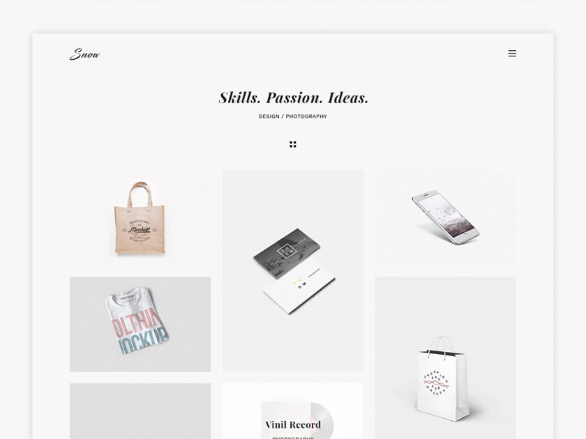 Snow Free PSD and HTML Template