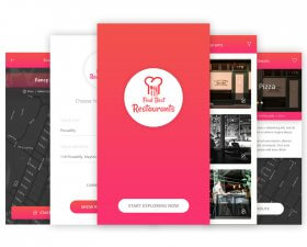 Find Restaurant App UI