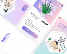 Home2 – Interior Design App UI