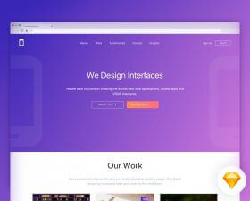 Interface Design Landing Page