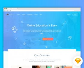 Learn Anything education landing page