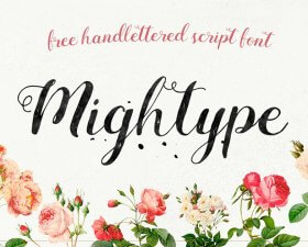 Mightype Script – Free Handlettered Font