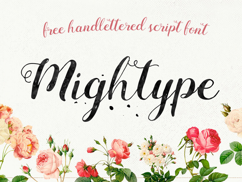 Mightype Script Free Handlettered Font