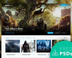 MovieRise – PSD Template