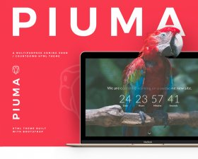 PIUMA free HTML Coming Soon template