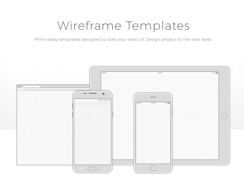 free wireframe templates collection