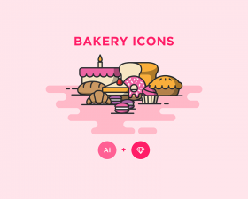 Bakery Icons Pack