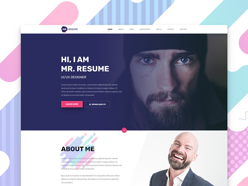Mr Resume Modern Resume Template