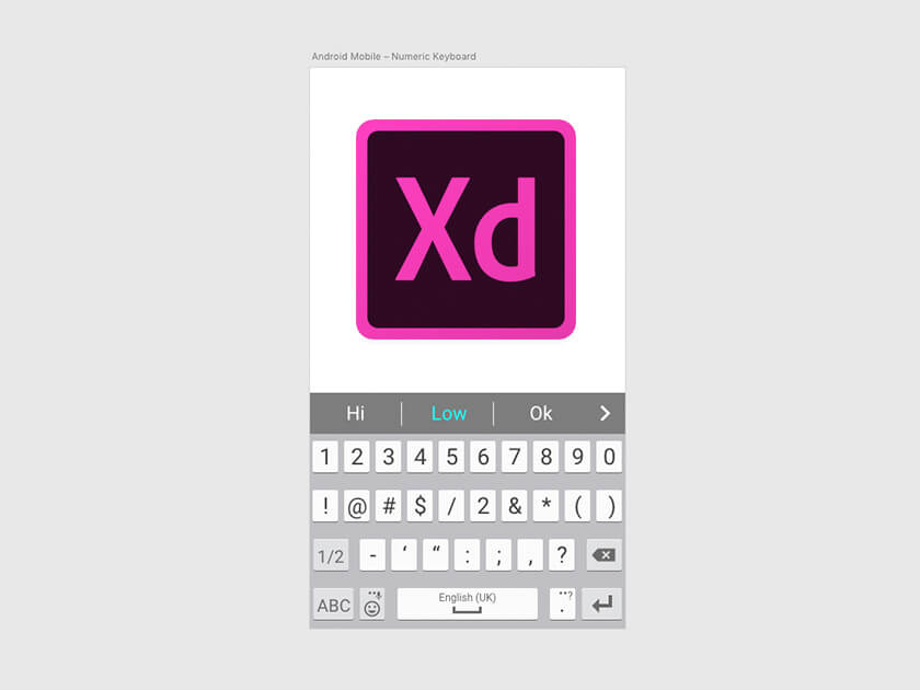 Android material numeric keyboard - Fluxes Freebies