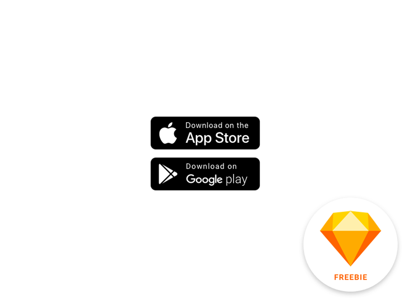 Apple and Google Play Store Badges - Fluxes Freebies