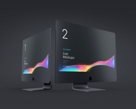 Apple devices black matte mockups