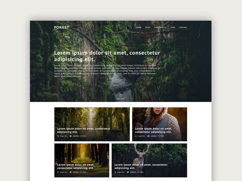 forest free psd template fluxes freebies