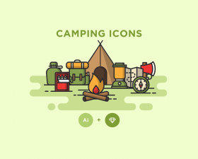Free Camping Icons