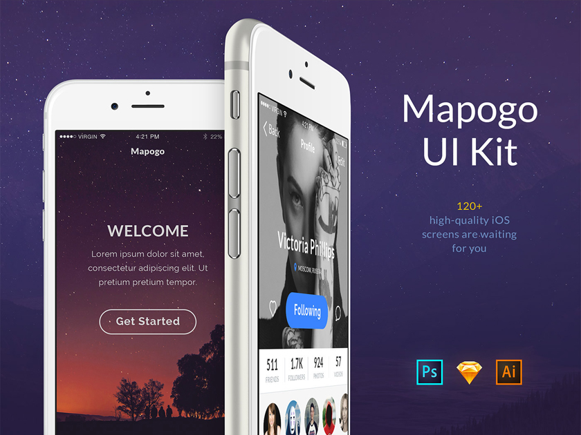 Mapogo UI Kit Free Sample