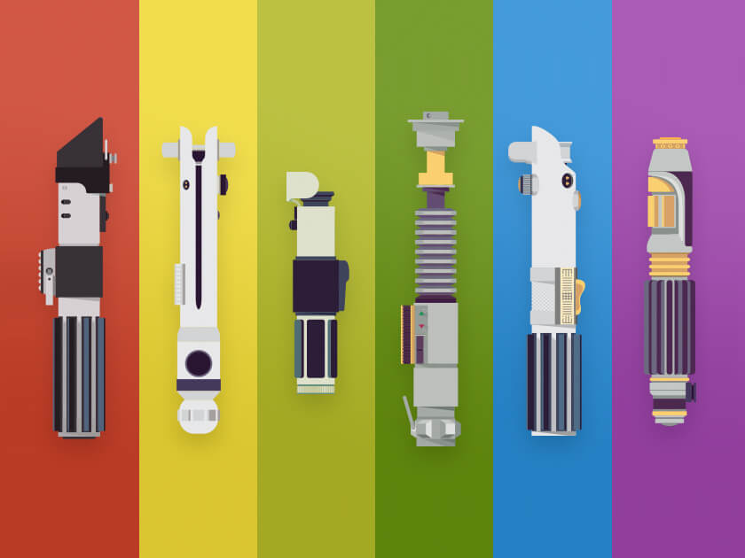 MayThe4thBeWithYou Free lightsaber vectors