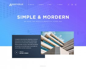 Monticello – architecture website concept