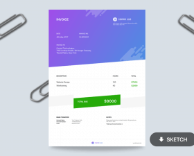 Playful Invoice Template