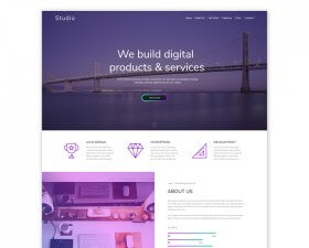 Studio – Free Adobe XD Template
