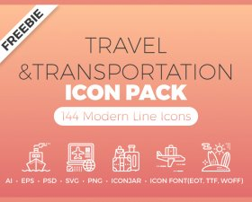 Travel & Transportation icon pack