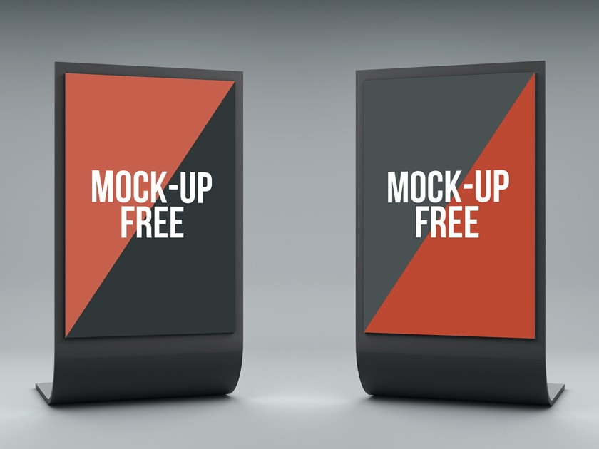 3D Stand Display Mockup - Fluxes Freebies