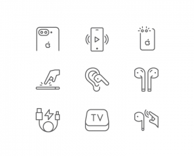 60 AirPods and iPhone Icons