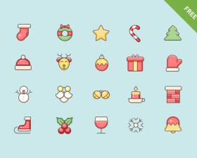 Christmas Vector Icon Set