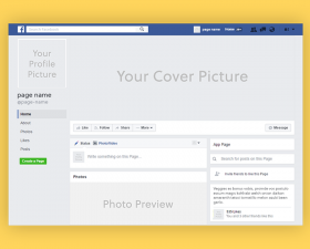 Facebook Page 2019 Mockup (PSD)