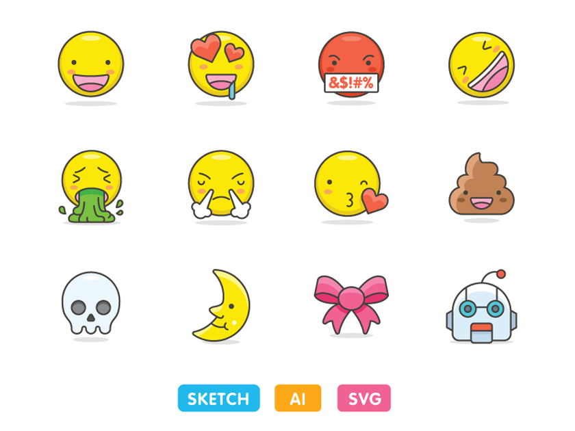 Free Emoji Icon Set