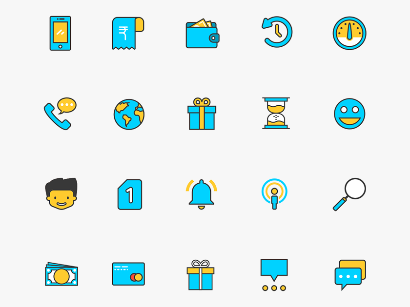 Free Icons Set in Sketch App