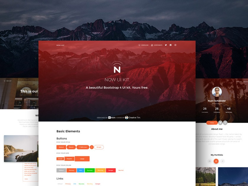 Now UI Kit – Free Bootstrap 4 Kit