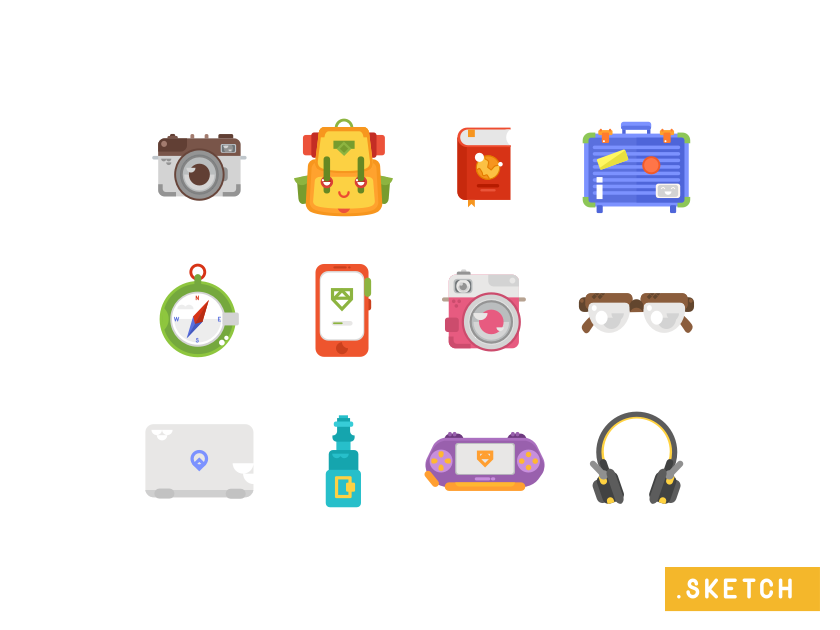 Travel Kit Icons