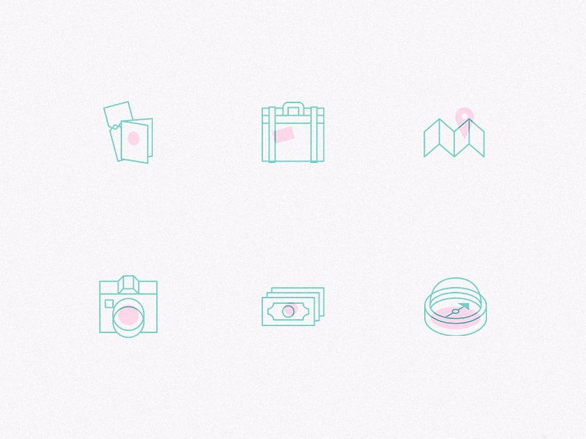 Creative Travel Icons Pack