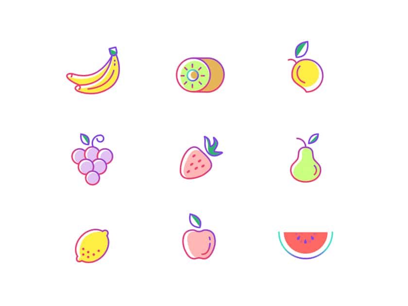 Fruit Icons Freebie