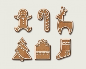 Gingerbread Cookies Illustrations for Christmas