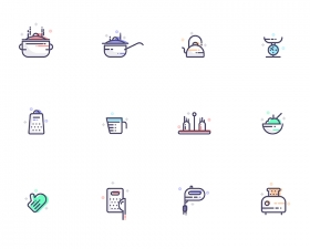 Kitchen Tools freebie icon set