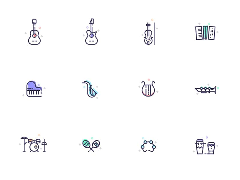 Musical Instruments freebie icon set