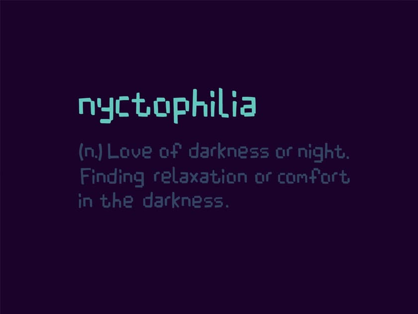 Nyctophilia Free Font Fluxes Freebies