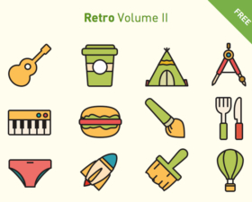 Retro Volume Icon Set