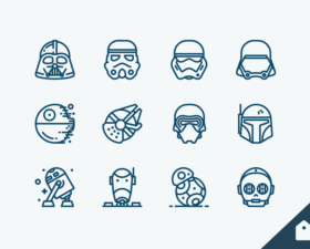 Star Wars Line Icons