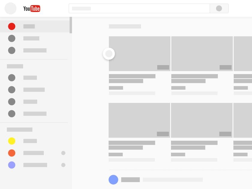 Adobe XD Youtube Redesign - Fluxes Freebies