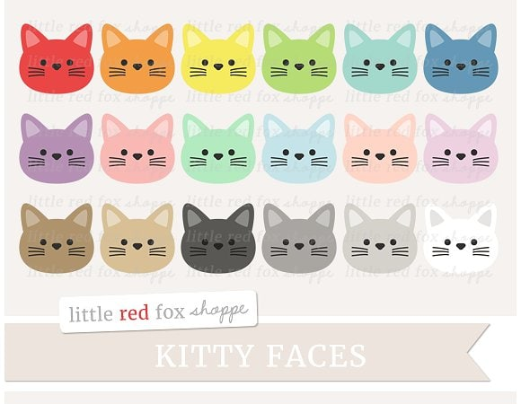 Kitty Cat Face Clipart