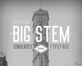 Big Stem Free Typeface